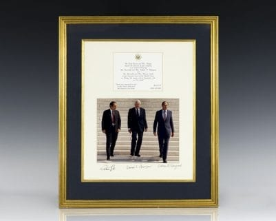 Supreme Court Justice Photograph Signed by Antonin Scalia, Warren E. Burger and William Rehnquist.