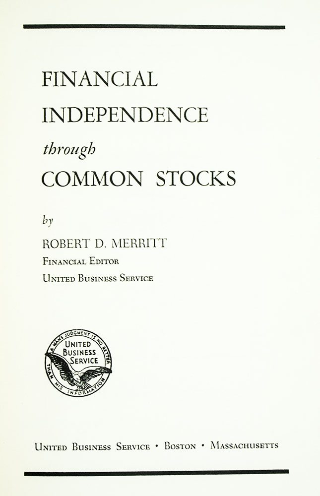 Financial Independence Through Stocks.