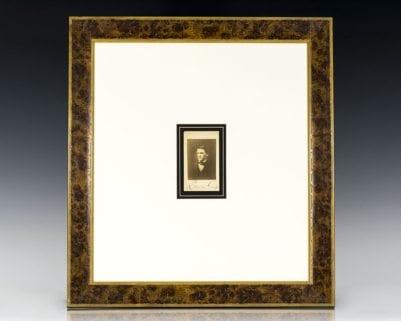 Ralph Waldo Emerson Signed Carte-de-Visite.