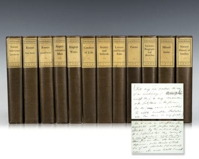 Complete Works of Ralph Waldo Emerson: Autograph Centenary Edition.