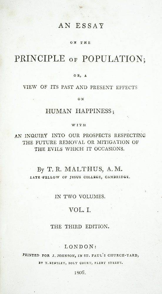 Thomas robert malthus essay on population