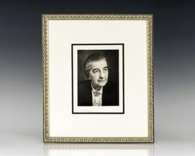 Golda Meir Signed Photograph.