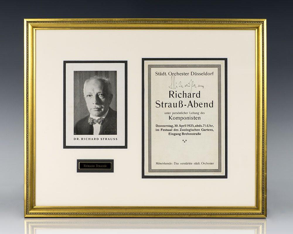 Richard Strauss Signed Program.
