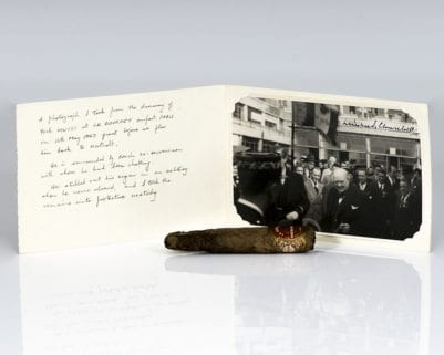 Winston Churchill Partially-Smoked Cuban Cigar.