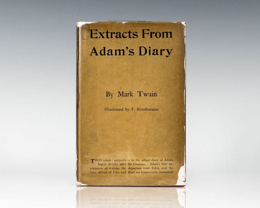 Extracts From Adam's Diary.