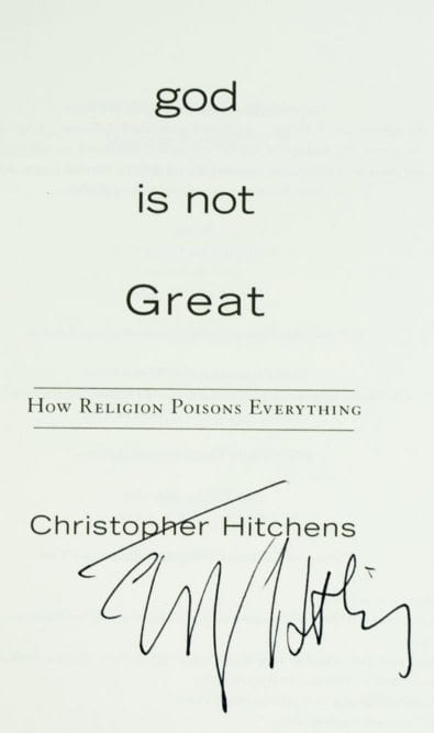 God Is Not Great: How Religion Poisons Everything.