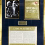 John F. Kennedy Signed Inaugural Address.