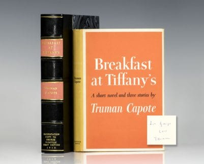 Breakfast At Tiffany's. A Short Novel and Three Stories.