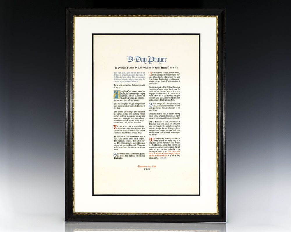 """Lithographic broadside, """"D-Day Prayer."""""""