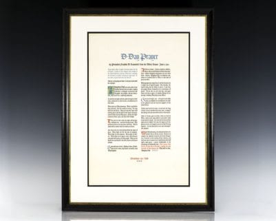 "Lithographic broadside, ""D-Day Prayer."""