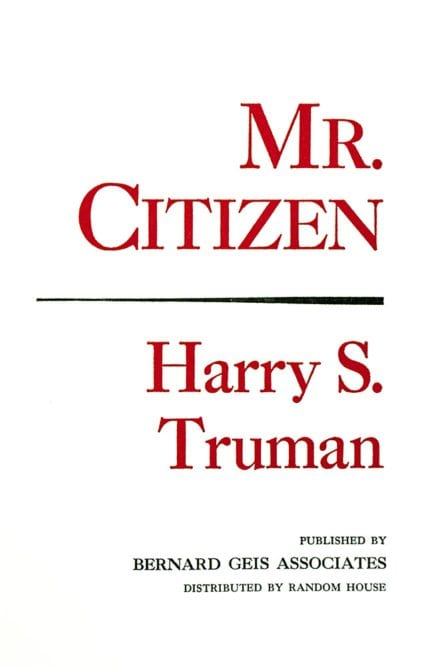 Mr. Citizen.
