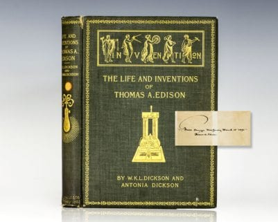 Life and Inventions of Thomas Alva Edison.
