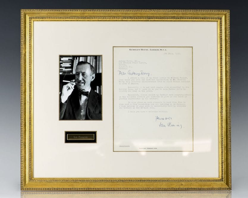 Ian Fleming Autographed Letter Signed.