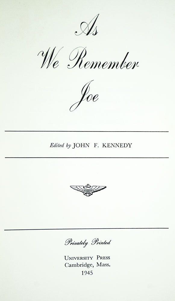 As We Remember Joe.