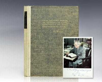 Mr. President: The First Publication from the Personal Diaries, Private Letters, Papers, and Revealing Interviews of Harry S. Truman, Thirty-Second President of the United States of America.