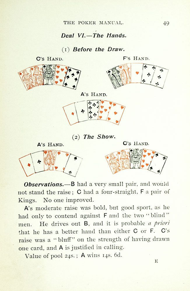 The Poker Manual  A Practical Course of Instruction in the Game… Together  with the International Code of Laws