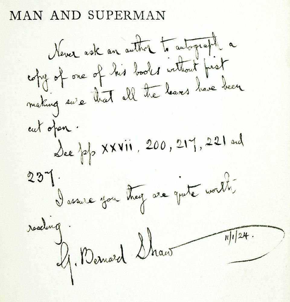 Man and Superman.