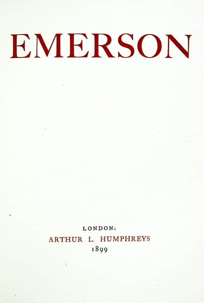emerson essays history