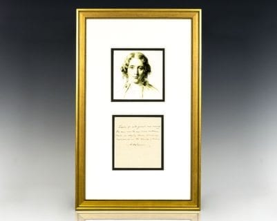 Harriet Beecher Stowe Signed Quote.