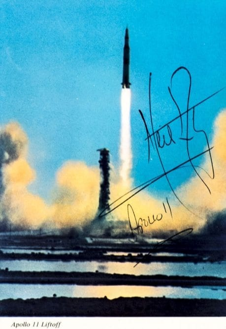 Neil Armstrong Signed Apollo 11 Liftoff.