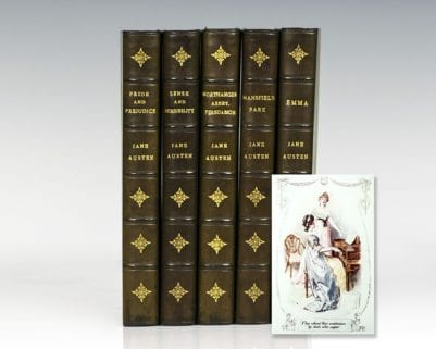 The Works of Jane Austen (Pride and Prejudice, Sense and Sensibility, Northanger Abbey, Persuasion, Mansfield Park, and Emma).