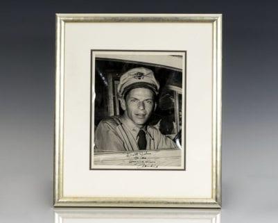 Frank Sinatra Signed Photograph.