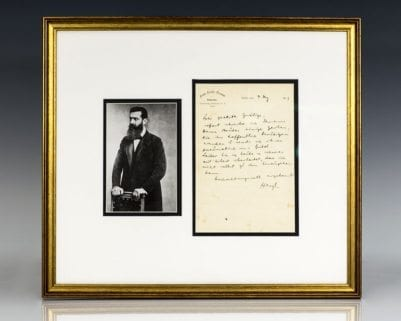 Theodor Herzl Autograph Letter Signed.