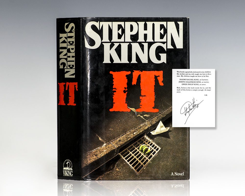 It Stephen King First Edition Signed Tim Curry