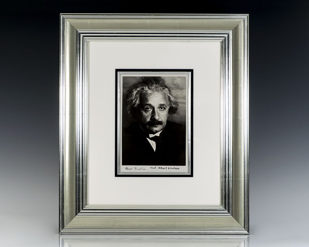 Albert Einstein Signed Martin Vos Photograph.