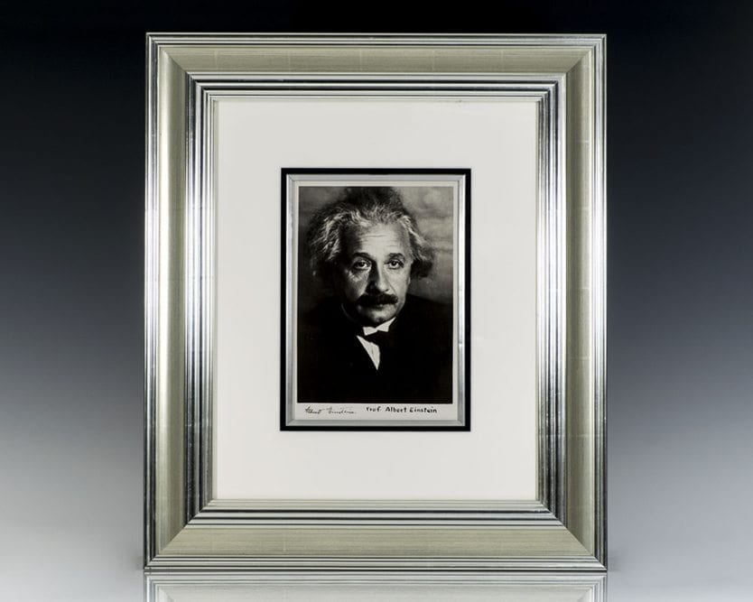 Albert Einstein Signed Martin Vos Photograph.