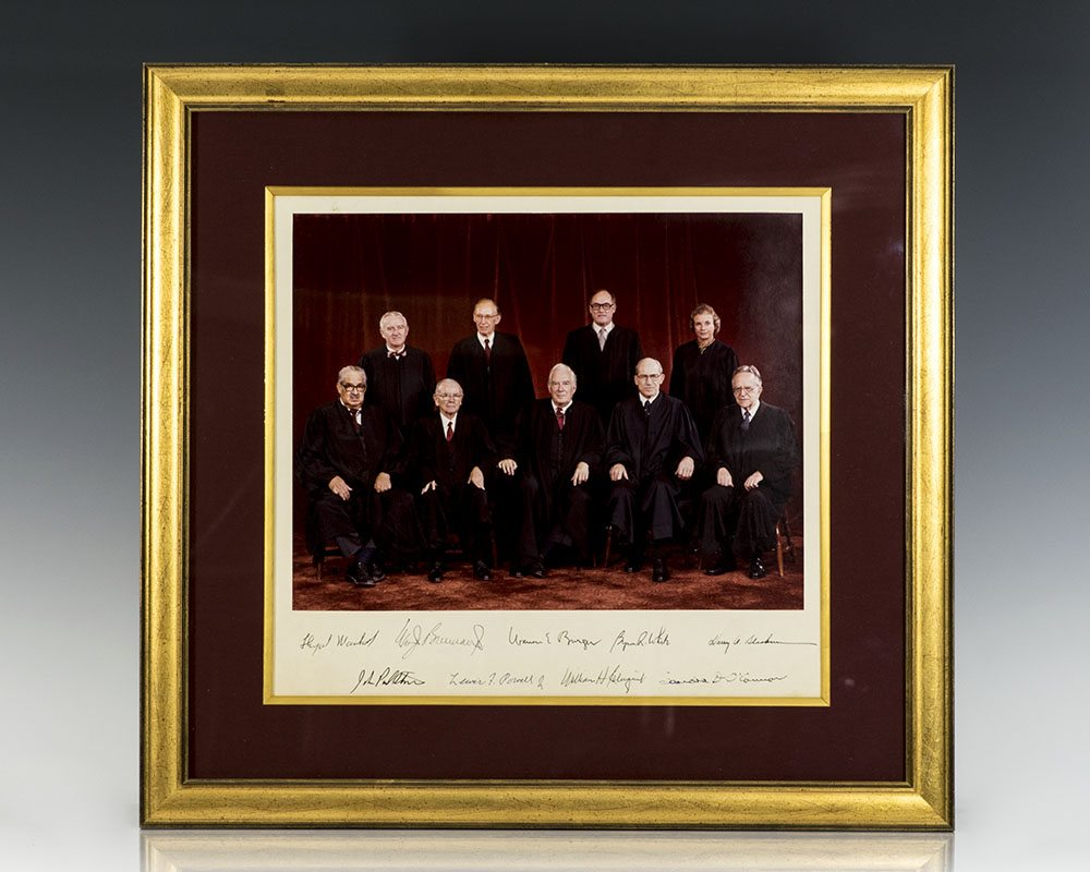 The Burger Court Signed Photograph.