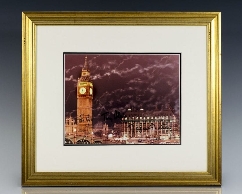 Big Ben Tower Signed Photograph of British Prime Ministers.