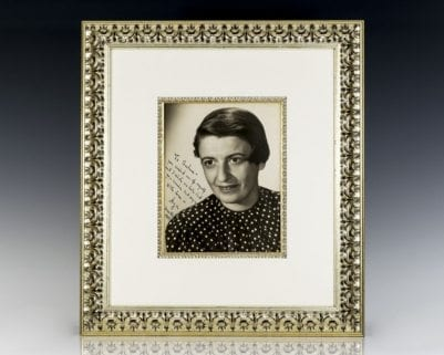 Ayn Rand Signed Photograph.
