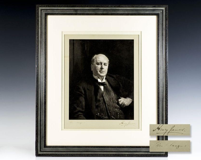 John Singer Sargent Henry James Signed Portrait.