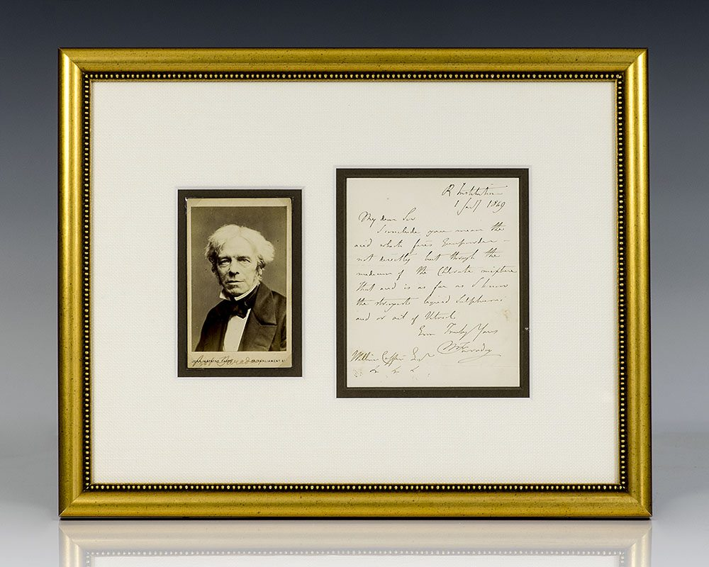 Michael Faraday Autograph Letter Signed.