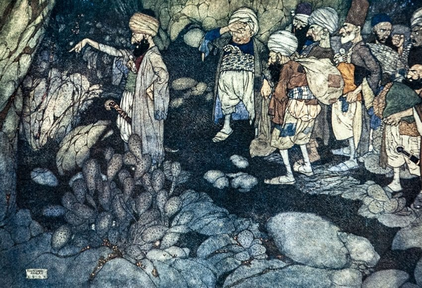 Stories from The Arabian Nights. Retold by Laurence Housman. With illustrations by Edmund Dulac.