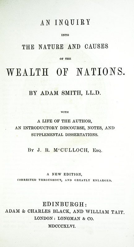 an overview of the wealth of nations inquire by adam smith Introduction – adam smith: the wealth of nations wealth means well-being smith's book is in fact about material well-being the first book of this inquiry.