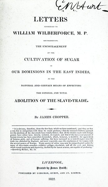 Cobbett's Weekly Political Register (January - May 1821) with Letters Addressed to William Wilberforce, M. P. Recommending the Encouragement of the Cultivation of Sugar in Our Dominions in the East Indies, as the Natural and Certain Means of Effecting the General and Total Abolition of the Slave-Trade.
