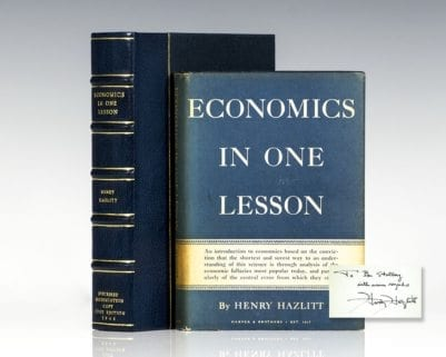Economics In One Lesson.