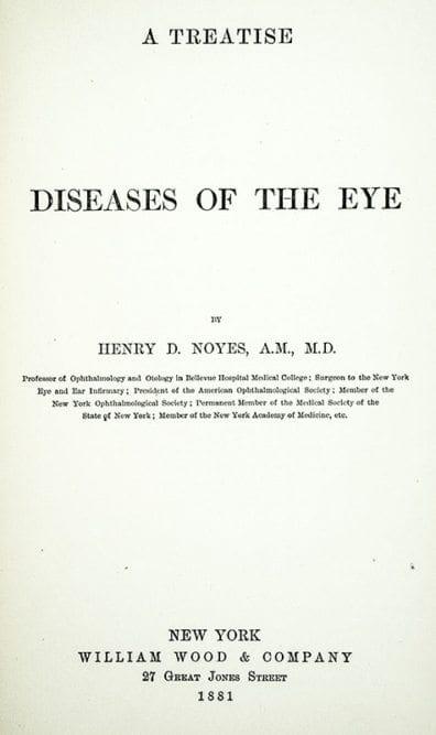 Diseases of the Eyes: A Treatise.