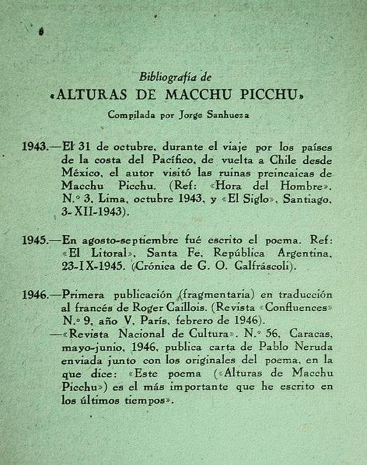 Alturas de Macchu Picchu.