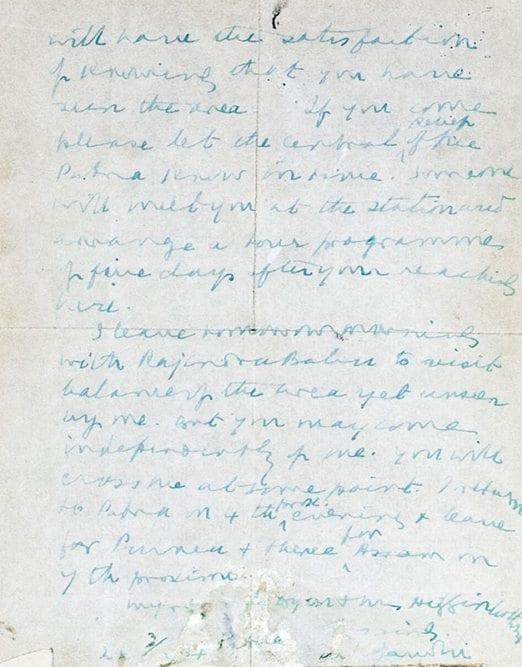 Mohandas K. Gandhi Autographed Letter Signed.