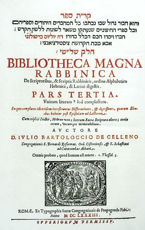 Bibliotheca Magna Rabbinica de Scriptoribus & Scriptis Herbraicis, Ordine Alphabetico Hebraice, & Latine Digestis.