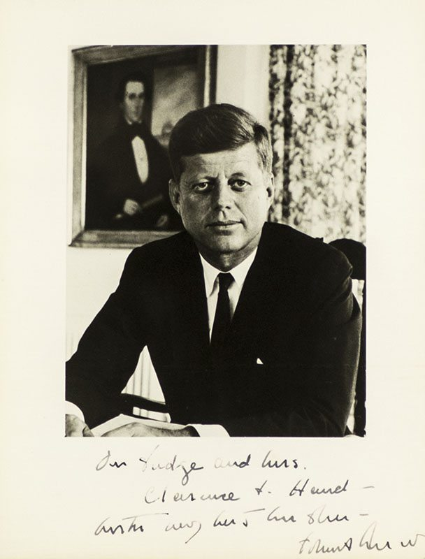 John F. Kennedy Signed Photograph.
