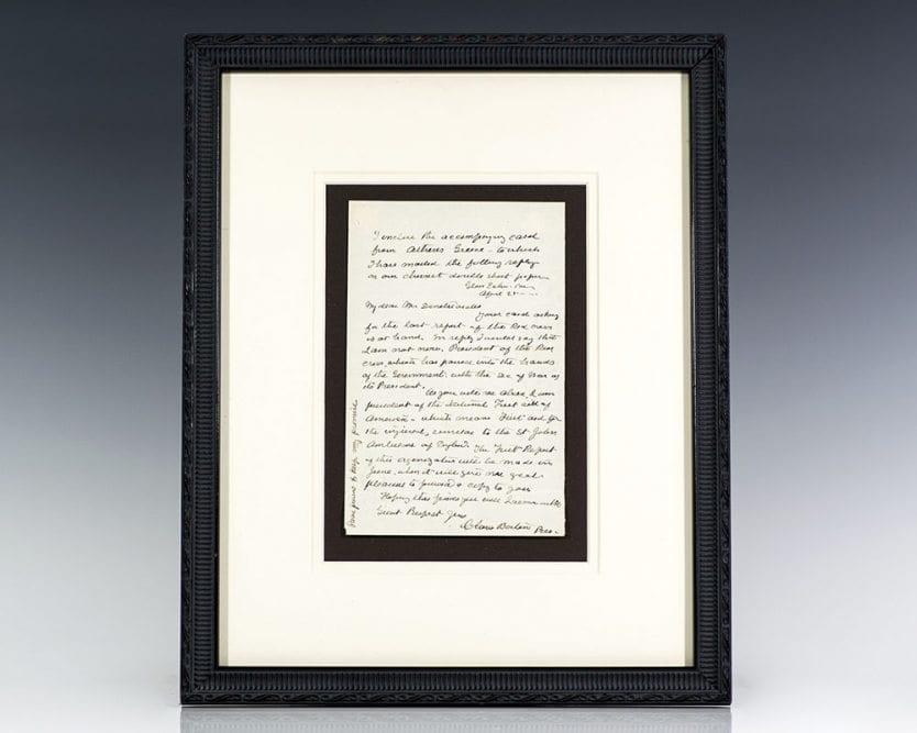 Clara Barton Autographed Signed Letter.