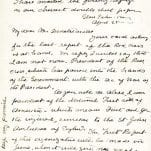 Clara Barton Autographed Signed Letter.