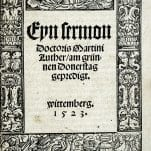 Eyn Sermon Doctoris Martini Luther (Dr. Martin Luther's Maundy Thursday Sermon).