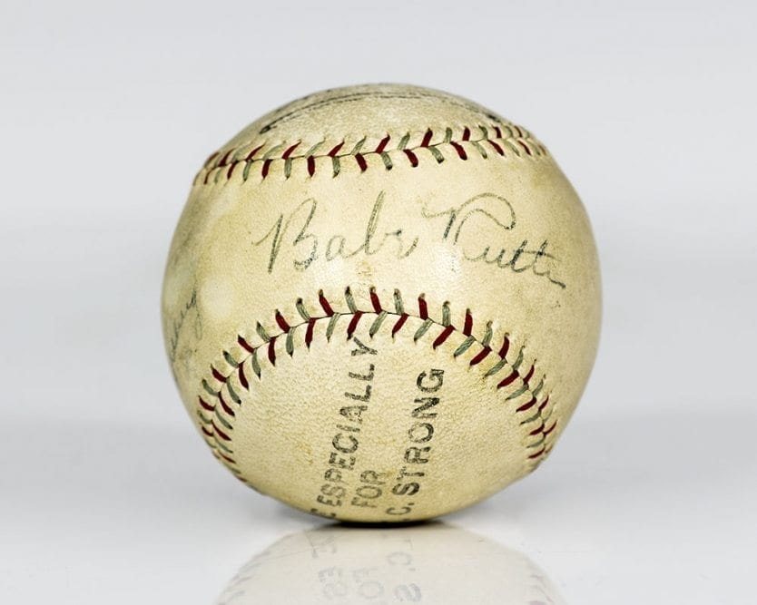 Babe Ruth and Lou Gehrig Autographed Baseball.