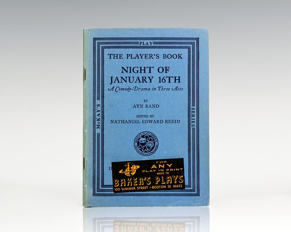 Night of January 16th The Player's Book: A Comedy-Drama in Three Acts.