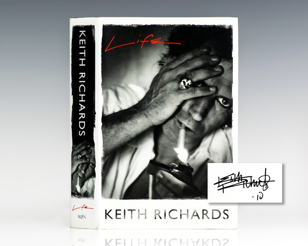 Life Keith Richards First Edition Signed Rare Book